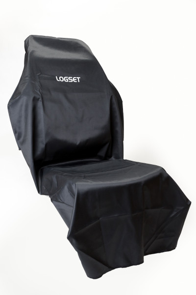 Seat cover 'LOGSET' black, long model