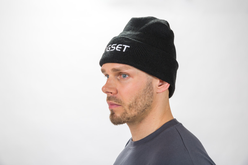 25 pcs Winter hat, black 'Logset'